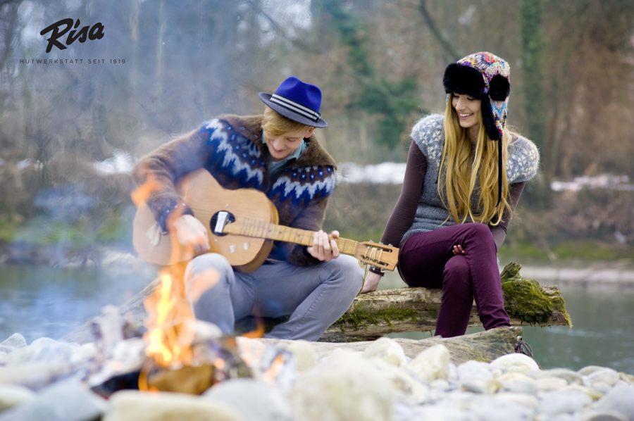 Fotoshooting für den Winterkatalog der RISA Hutwerkstatt - Pullunder Snjó - Strickjacke Var / Lopi 29
