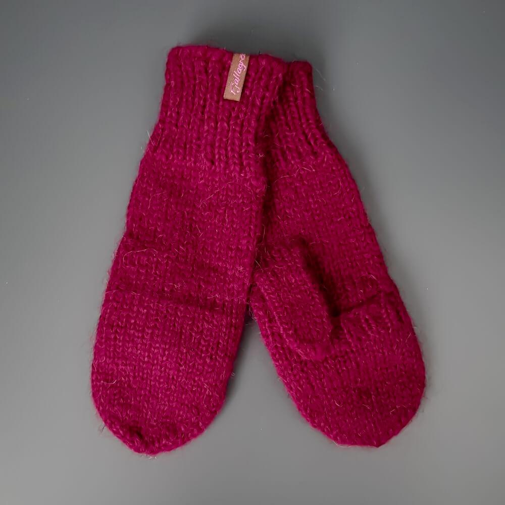 Handschuhe mit Klappe - rot