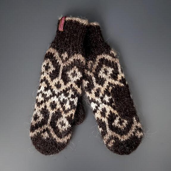 Handschuhe Nordur braun-beige
